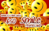 Smile Phone Card $50