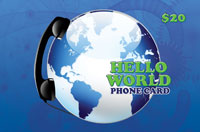Hello World Phone Card $20